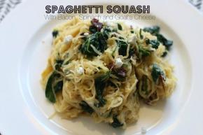 Spaghetti Squash w/ Bacon, Goat Cheese,Spinach