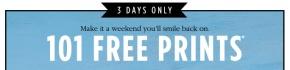 Shutterfly – 101 FreePrints