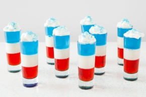 Red, White, and Blue Jello Shots